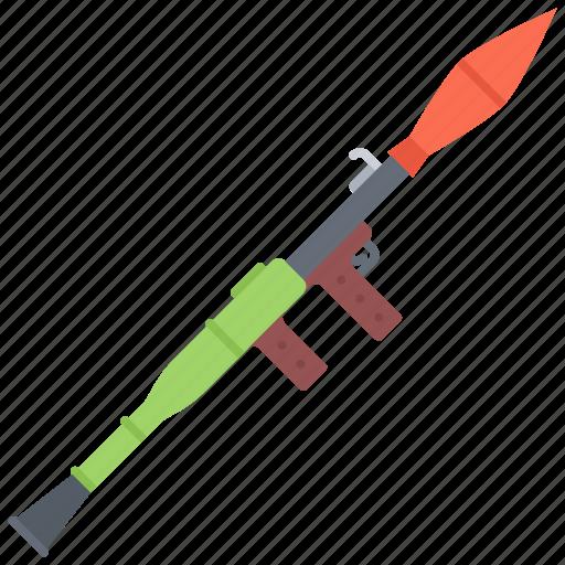 battle, launcher, military, rocket, war, weapon icon