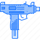 battle, gun, military, uzi, war, weapon icon