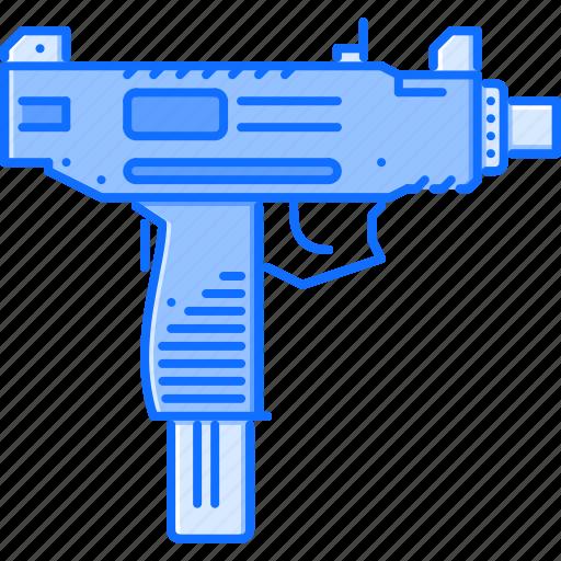 Uzi, weapon, gun, battle, military, war icon