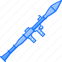 battle, launcher, military, rocket, war, weapon icon