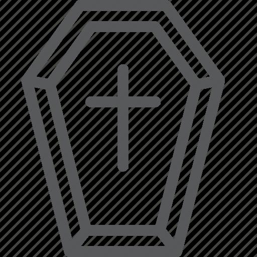casket, coffin, crime, cross, death, grave, halloween, war icon