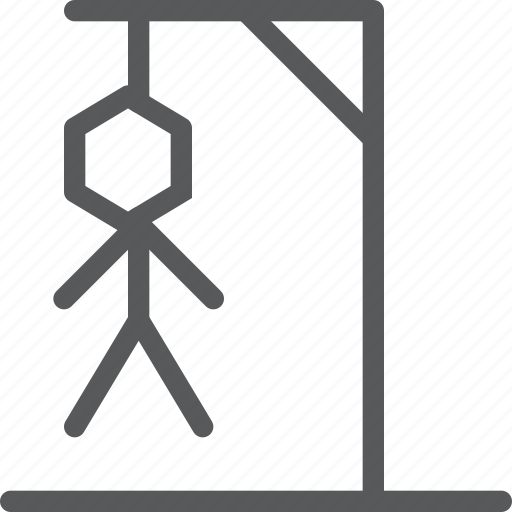 crime, dead, hanging, hangman, noose, penalty, rope, suicide icon