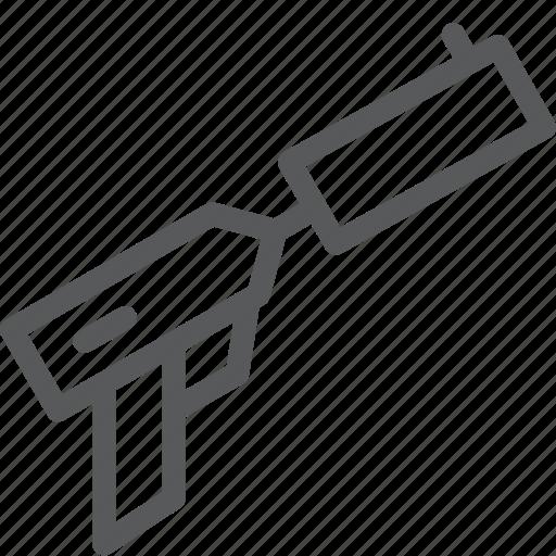 crime, danger, gun, hand, pistol, shoot, silencer, weapon icon