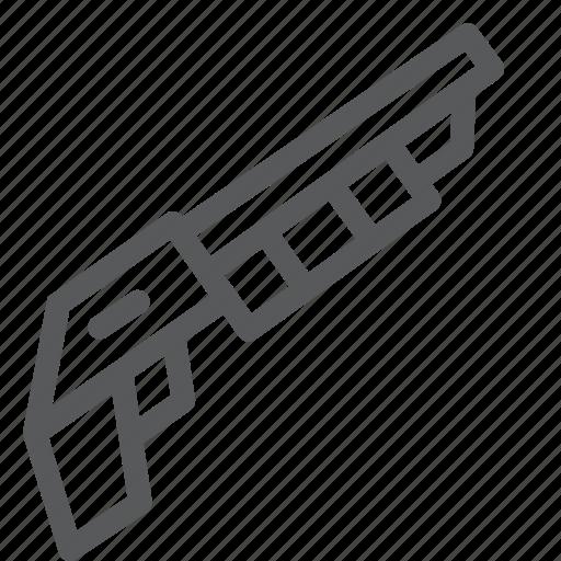 Shotgun, crime, danger, gun, hand, shoot, weapon icon - Download on Iconfinder