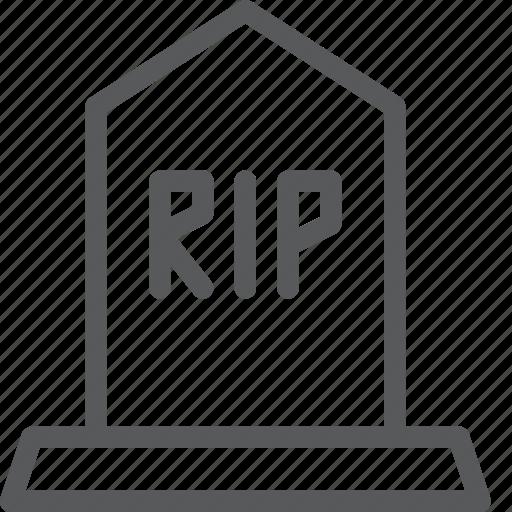 cementery, crime, death, grave, rip, tomb, tombstone icon