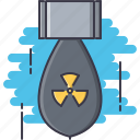 battle, bomb, military, nuclear, war, weapon icon