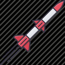 battle, military, rocket, war, weapon icon