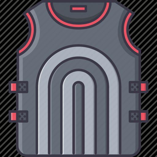 battle, flak, jacket, military, war, weapon icon