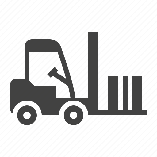 cargo, forklift, loader, truck, warehouse icon