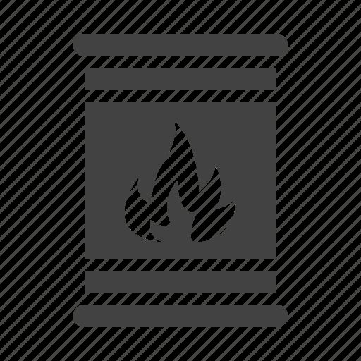 barrel, cargo, dangerous, flammable, toxic icon