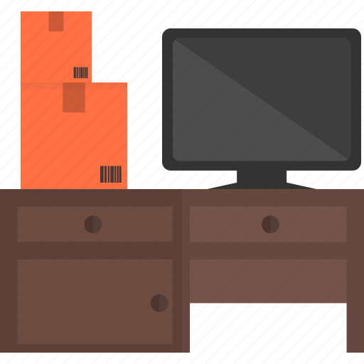box, check stock, computer, deck, desktop, manage, monitor icon