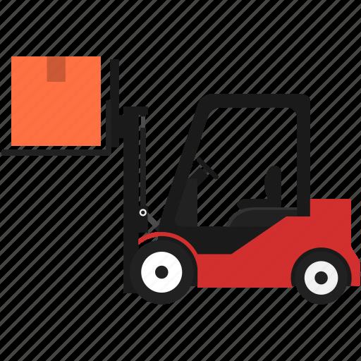 box, folklift, logistics, pallet, shipping, transportation, warehouse icon