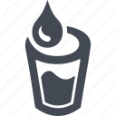 drop, flow, glass, liquid, water consumption, water flow icon