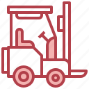 forklift, lift, warehouse, industrial, vehicle