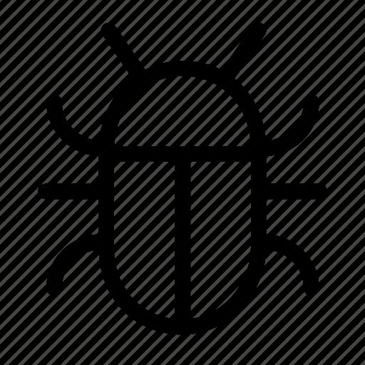 attention, bug, danger, virus, warning icon