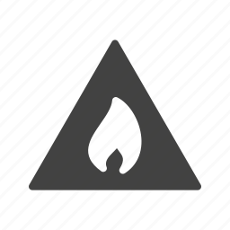 fire, flammable, prohibited, risk, safety, sign, warning icon