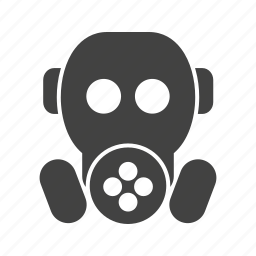 caution, danger, gas, poison, safety, sign, warning icon