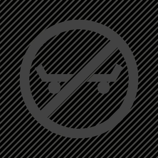 Danger, roller, shoe, sign, sport, stop, warning icon - Download on Iconfinder