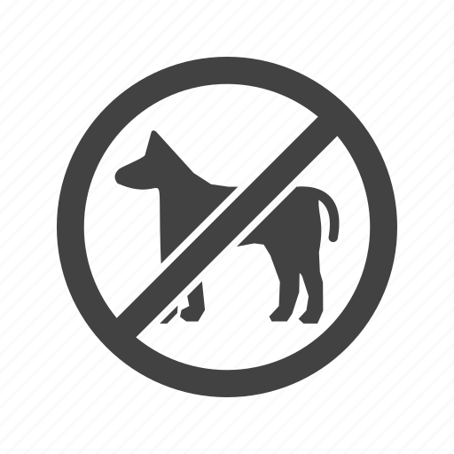 allowed, dog, no, park, pet, pets, sign icon