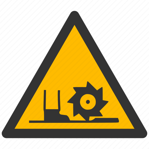 alarm, alert, attention, auger, blade, caution, cutter, damage, danger, exclamation, hazard, problem, protection, risk, safe, safety, warning icon