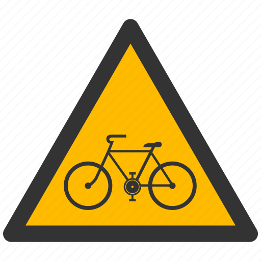 alarm, alert, attention, bicycle, bike, caution, damage, danger, exclamation, hazard, problem, protection, risk, safe, safety, warning icon