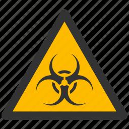 alarm, alert, attention, biohazard, caution, damage, danger, ebola, exclamation, hazard, pollution, problem, protection, risk, safe, safety, warning, waste icon