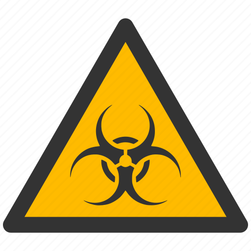 alarm, alert, attention, biohazard, caution, damage, danger, ebola, exclamation, hazard, pollution, problem, protection, risk, safe, safety, warning, waste icon