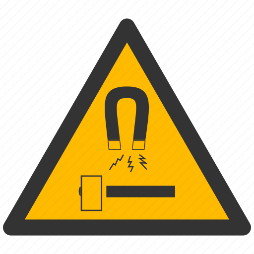 alarm, alert, attention, block, caution, damage, danger, exclamation, hazard, magnet, problem, protection, risk, safe, safety, warning icon