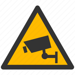attention, camera warning, cctv, damage, danger, safe, safety, security icon