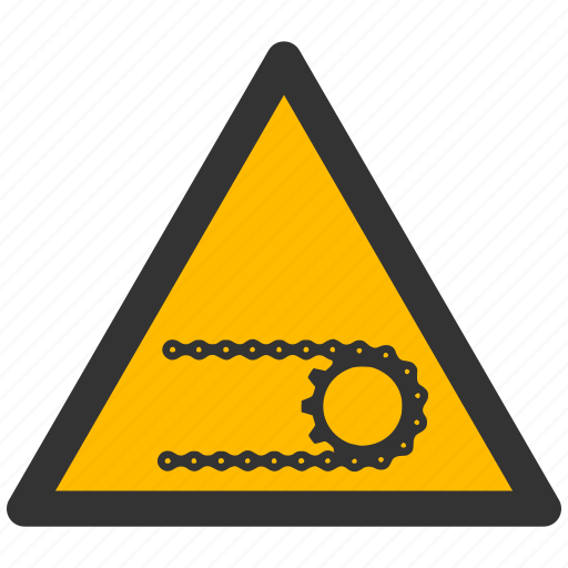 alarm, alert, attention, caution, chain, damage, danger, exclamation, hazard, problem, protection, risk, safe, safety, warning icon