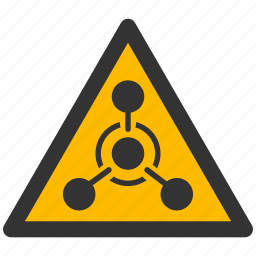 alarm, alert, attention, caution, chemical, damage, danger, exclamation, hazard, problem, protection, risk, safe, safety, warfare, warning, weapon icon
