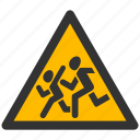 alarm, alert, attention, caution, child, children, damage, danger, exclamation, hazard, kids, problem, protection, risk, safe, safety, school, warning icon