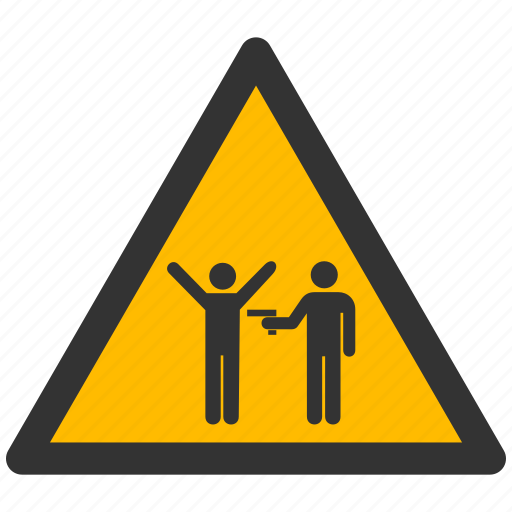 alarm, alert, attention, caution, crime, damage, danger, exclamation, hazard, looting, murder, problem, protection, risk, robber, robbery, safe, safety, warning icon