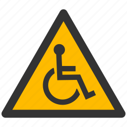 alarm, alert, attention, caution, damage, danger, disabled, exclamation, hazard, person, problem, protection, risk, safe, safety, warning icon