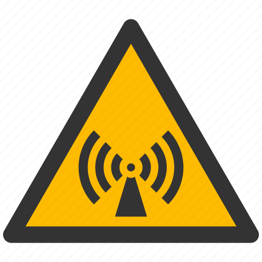alarm, alert, attention, caution, damage, danger, electromagnetic, exclamation, hazard, problem, protection, radiation, risk, safe, safety, warning icon