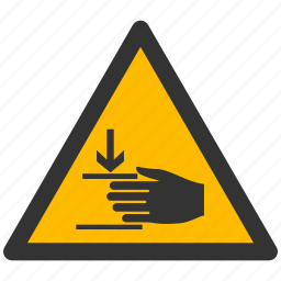 alarm, alert, attention, caution, damage, danger, exclamation, hand, hazard, injury, problem, protection, risk, safe, safety, warning icon
