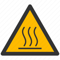 alarm, alert, attention, caution, damage, danger, exclamation, hazard, hot, problem, protection, risk, safe, safety, surface, warning icon