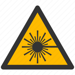 alarm, alert, attention, beam, caution, damage, danger, exclamation, hazard, laser, problem, protection, radiation, risk, safe, safety, warning icon