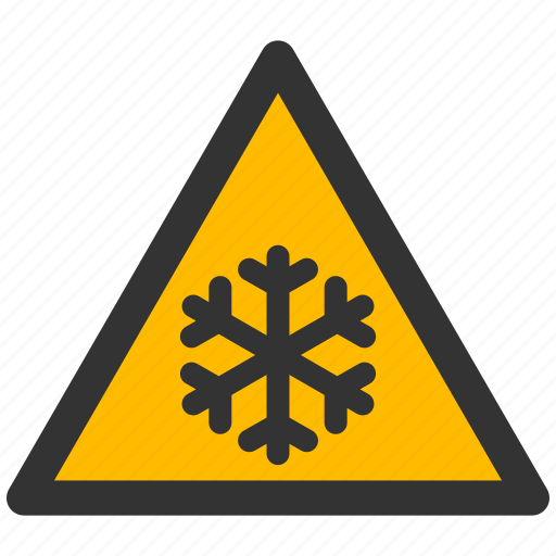 frost, ice, low temperature, protection, risk, safety, snow, warning icon