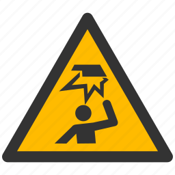 alarm, alert, area, attention, caution, damage, danger, exclamation, hazard, head, obstacles, problem, protection, risk, safe, safety, warning icon