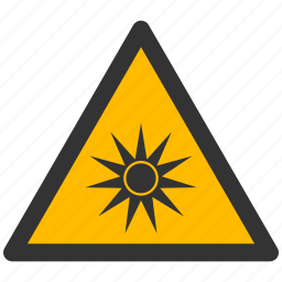 alarm, alert, attention, caution, damage, danger, exclamation, hazard, optic, optical, problem, protection, radiation, risk, safe, safety, warning icon
