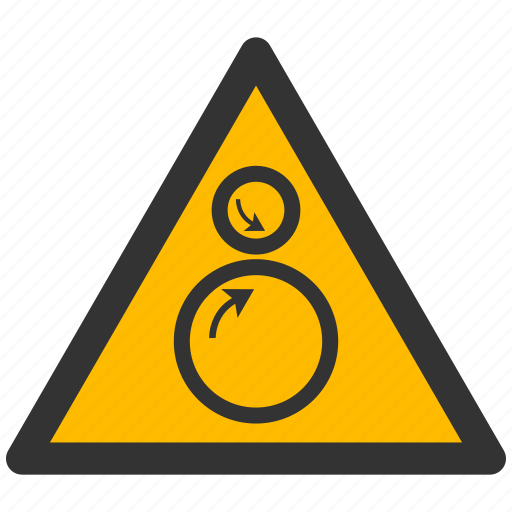 alarm, alert, attention, caution, damage, danger, exclamation, hazard, problem, protection, risk, rolls, rotatiing, safe, safety, warning icon