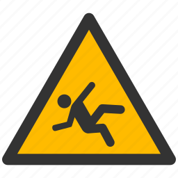 alarm, alert, attention, caution, damage, danger, exclamation, hazard, problem, protection, risk, safe, safety, slip, slippery, warning icon