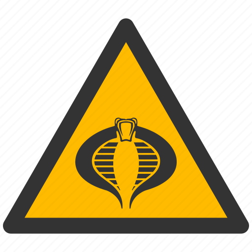 alarm, alert, attention, caution, cobra, damage, danger, exclamation, hazard, problem, protection, risk, safe, safety, snake, warning icon