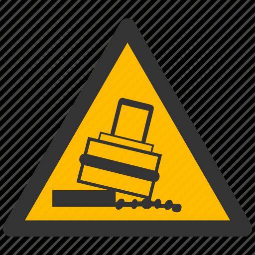 alarm, alert, attention, caution, damage, danger, exclamation, hazard, problem, protection, risk, rolling, safe, safety, tilt, tilting, warning icon