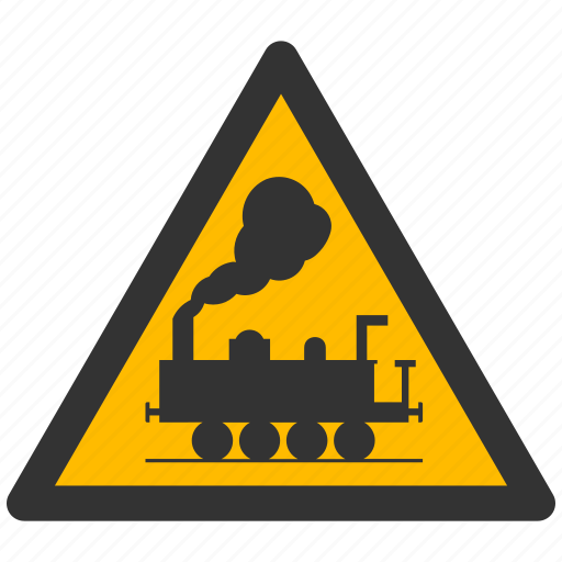 alarm, alert, attention, caution, damage, danger, exclamation, hazard, problem, protection, rail, railroad, risk, safe, safety, train, warning icon