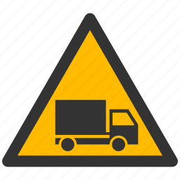alarm, alert, attention, caution, damage, danger, exclamation, hazard, lorry, problem, protection, risk, safe, safety, truck, warning icon