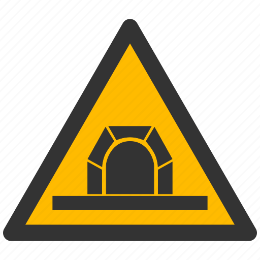 alarm, alert, attention, caution, damage, danger, exclamation, hazard, problem, protection, risk, safe, safety, tunnel, warning icon