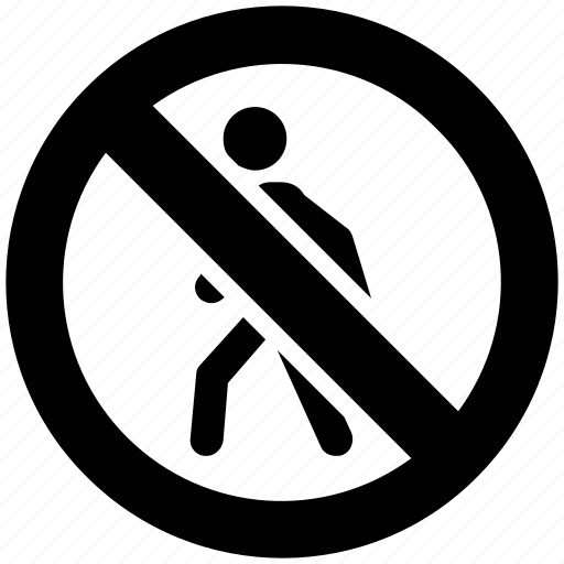 no entry, no jogging, no running, prohibited, running icon