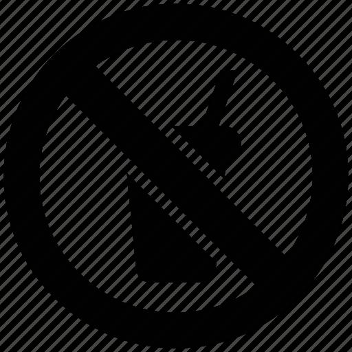 drink restrict, forbidden drink, no drink, prohibited drink icon